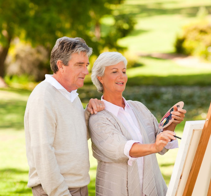 Retired Couple With Social Security Strategy